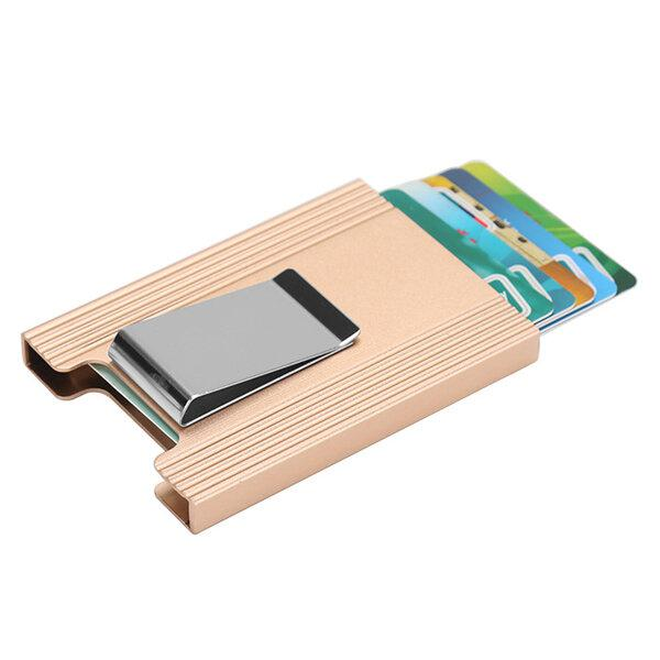 Ipree aluminum alloy card holder credit card case id card