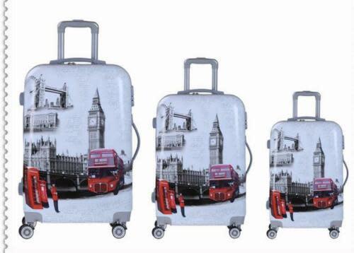 Lightweight london printed luggage suitcase wheel hard shell