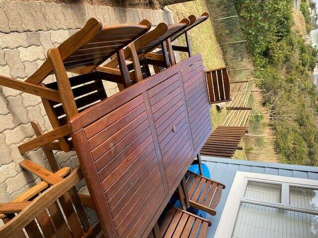 Wooden furniture table & chairs for sale