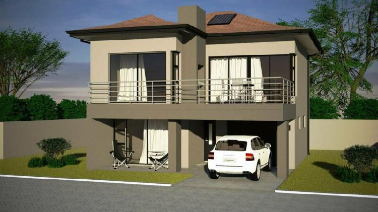 3 bedroom house in security estate - plot and plan -