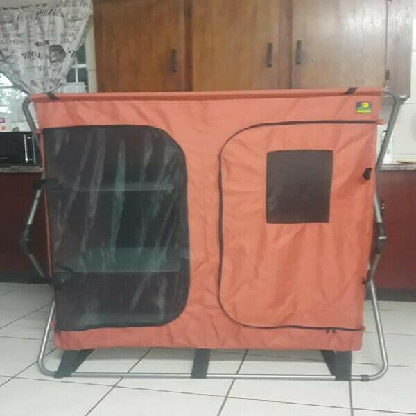 Folding camping cupboard double