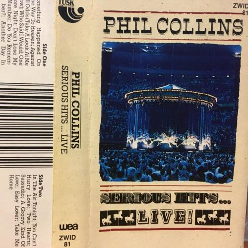 Cassette - phil collins - serious hits... live! (card inlay