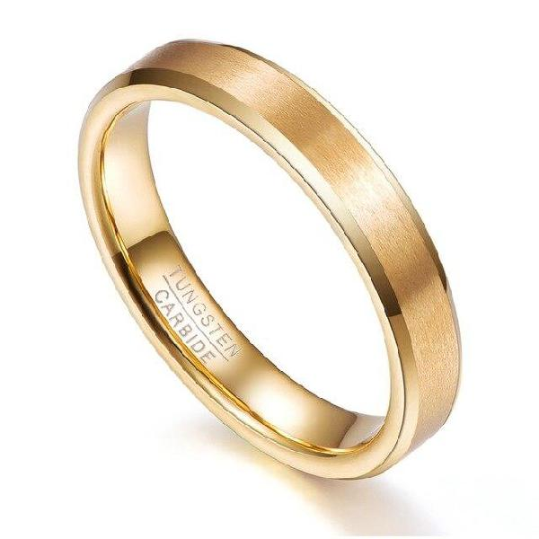 2018 gold color thin 4mm width men women rings tungsten