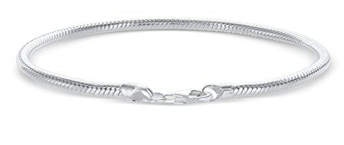 925 sterling silver italian 3mm snake chain bracelet for