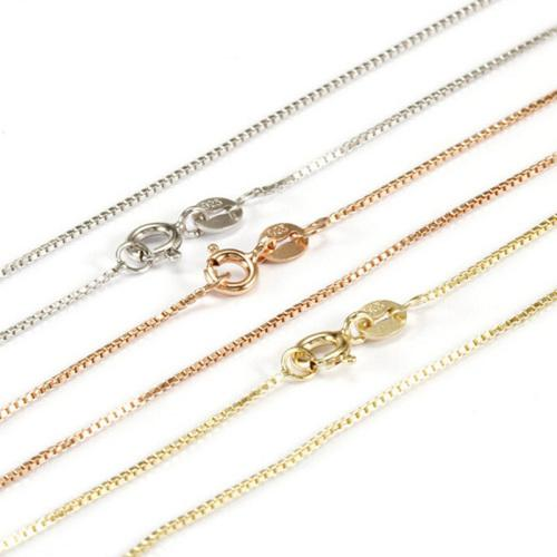 925 sterling silver and rose gold chain necklace jewellery