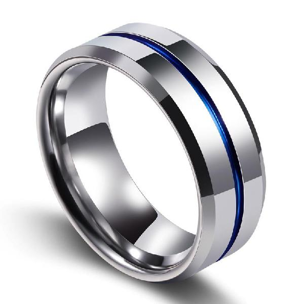 Beier 2018 fashion thin blue line tungsten ring wedding