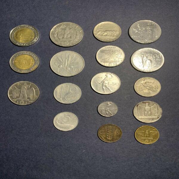 Italian coin collection.