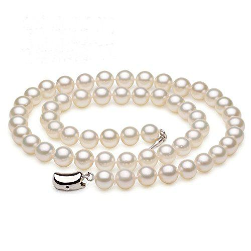 Jyx aaa classic round white freshwater pearl necklace 18