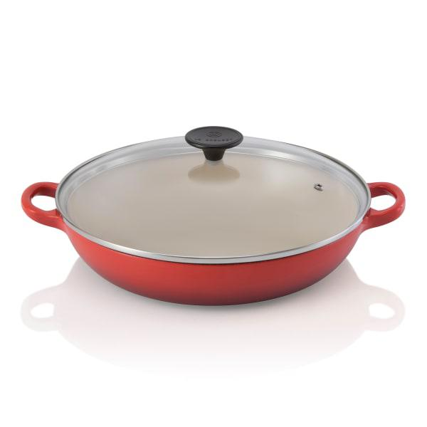 Le creuset cast iron 2.8l buffet casserole with glass lid,