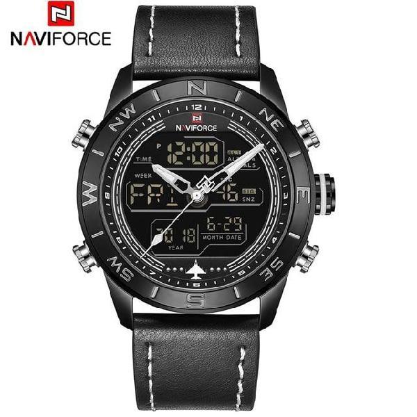 Naviforce 9144 fashion gold men sport watches mens led