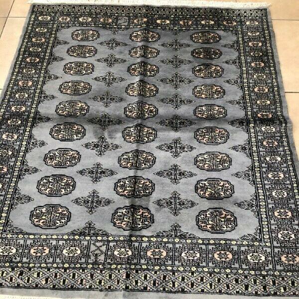 Oriental rug - handwoven woolen blue 180 x 125 cm
