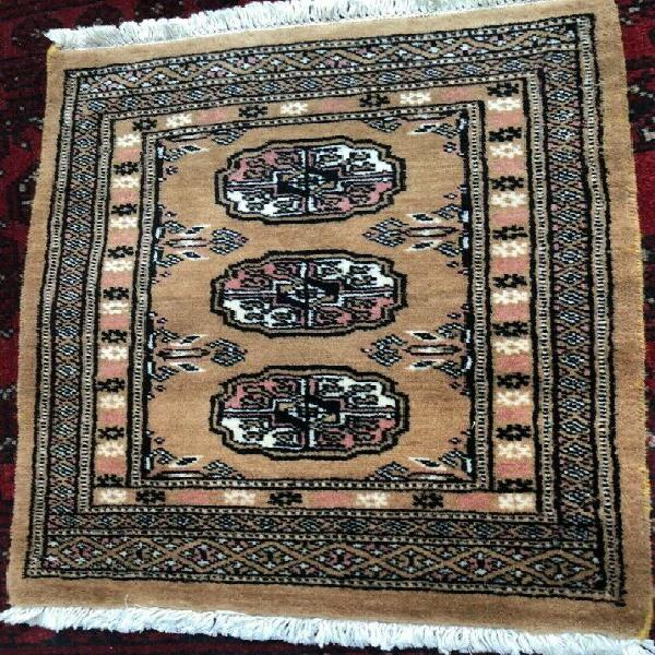 Small rug - oriental hand-woven brown 60 x 40 cm