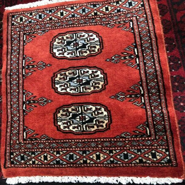 Small rug - oriental hand-woven light red 60 x 40 cm