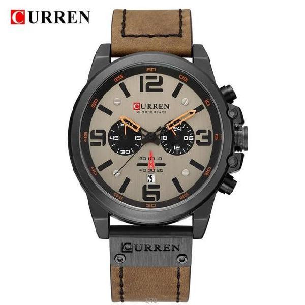 Top brand luxury curren 8314 fashion leather strap quartz