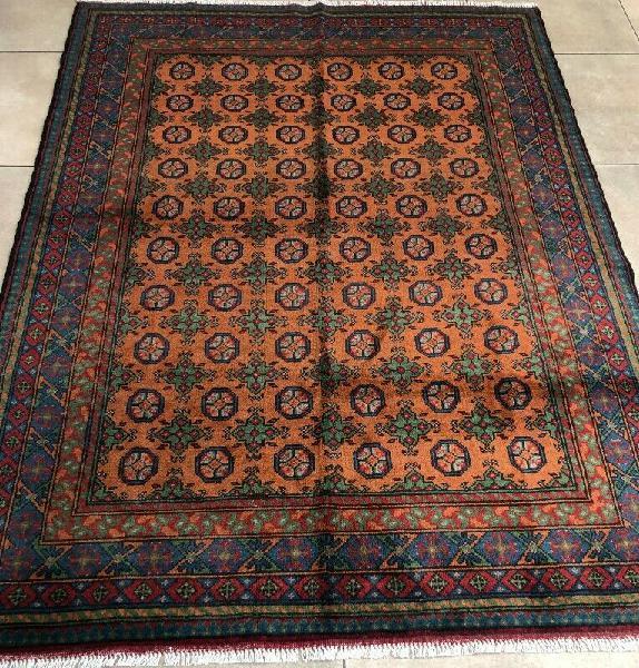 Oriental rug - hand-woven mustard 238 x 172 cm