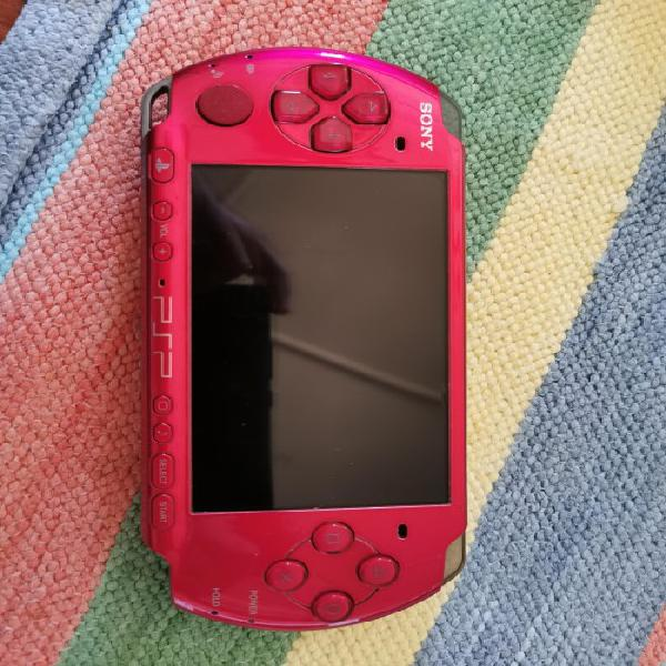 Psp 3000 - vibrant red - excellent condition - version 6.6