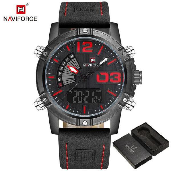 2017 naviforce mens fashion sport watches men quartz analog