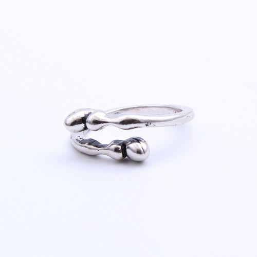 Fashion jewelry ring: unisexs vintage stainless steel