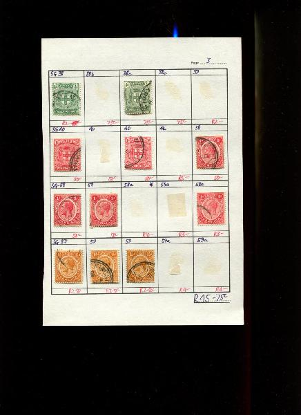 Jamaica - 11 Stamps Mounted (Hinged) on Approval Page