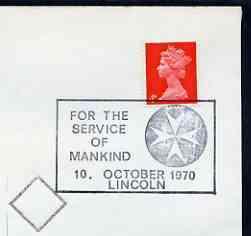 Postmark - great britain 1970 cover bearing illustrated
