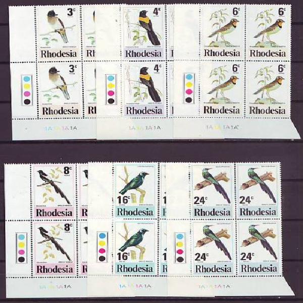 Rhodesia - 1977 rhodesian birds issue complete set in