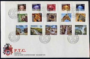 Rhodesia 1978 definitive set of 15 values complete on