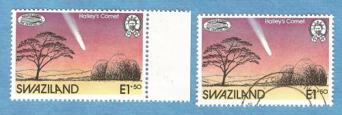 Swaziland 1986, 27 Feb.Halleys Comet over Swaziland.1 Mint,1