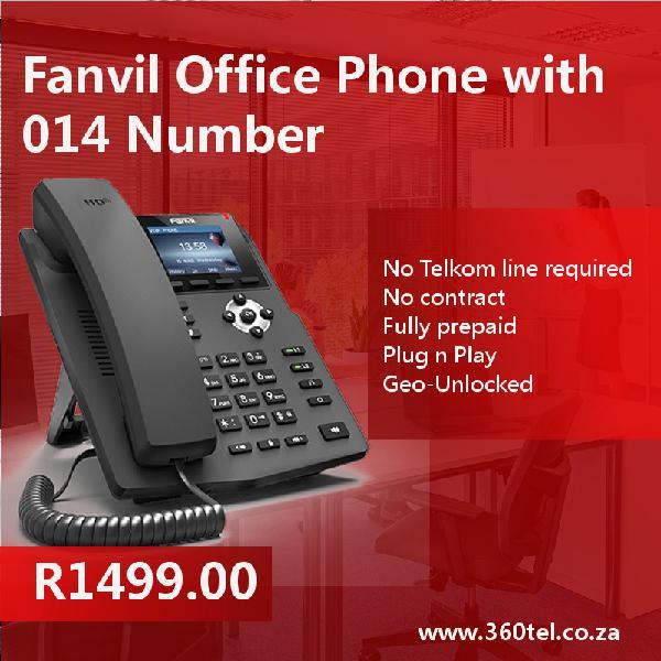 014 fanvil office phone. plug n play. no telkom line