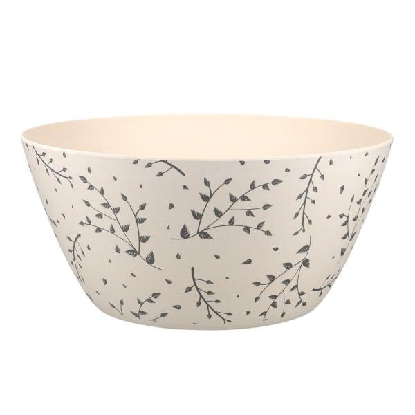 KitchenCraft Natural Elements Bamboo Fibre Salad Bowl, 25cm
