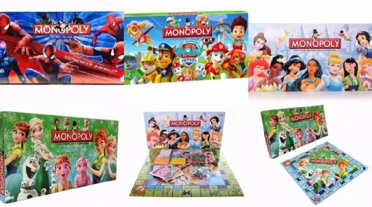 Official branded children's animated character monopoly: