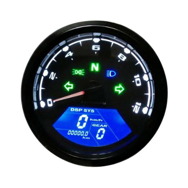 12000rpm Waterproof Lcd Digital Motorcycle Speedometer In