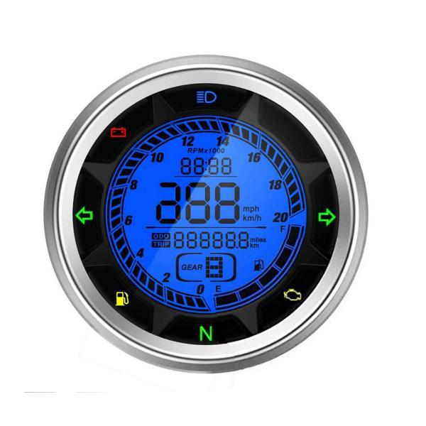 20000rpm motorcycle digital speedometer odometer tachometer