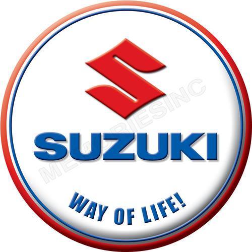 Suzuki - way of life - classic round metal sign