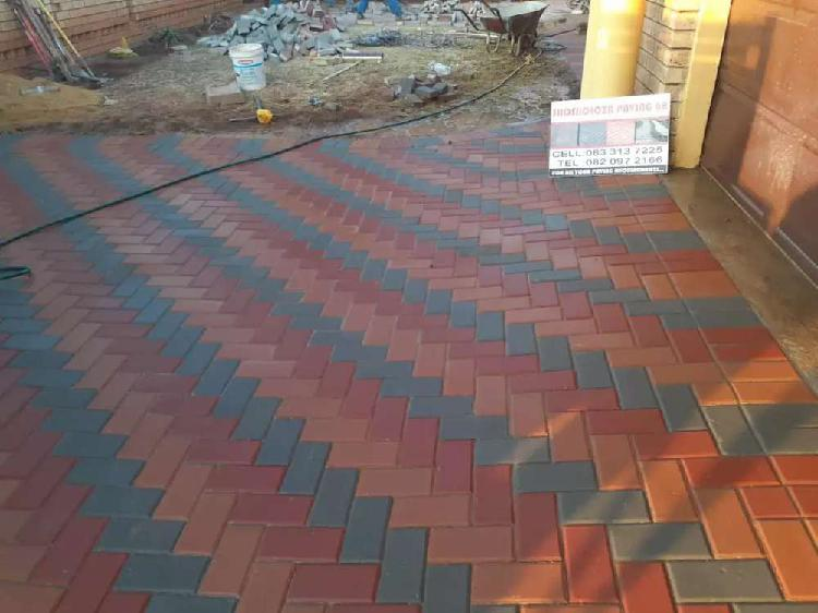 R195 per square meter including bricks cement sand and
