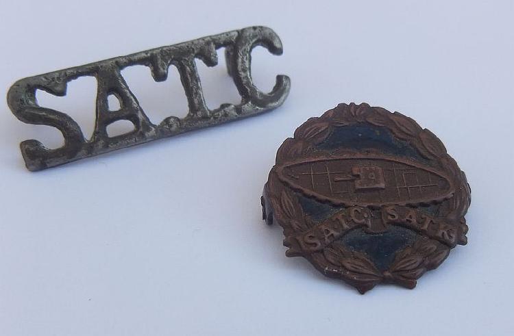 Two rare vintage badges of the sa army tank corps - bid for