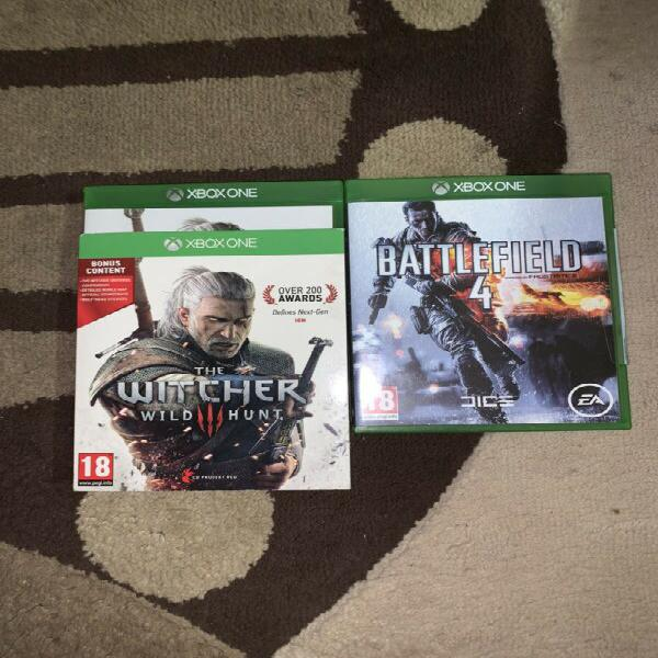 Xbox one battlefield 4 and the witcher 3