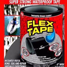 Flex tape rubberized waterproof tape - black, 4 inch x 5