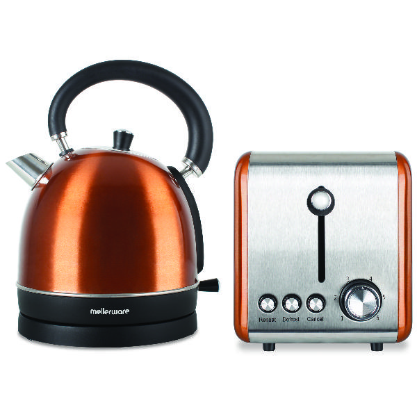 Mellerware pack 2 piece set stainless steel kettle and