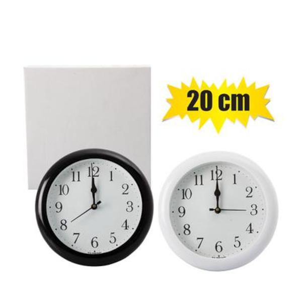 Plastic wall clock - 20cm assorted - cl general merchandise