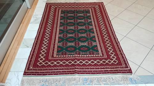 Persian carpet torkaman 190cm x 130cm hand knotted (with