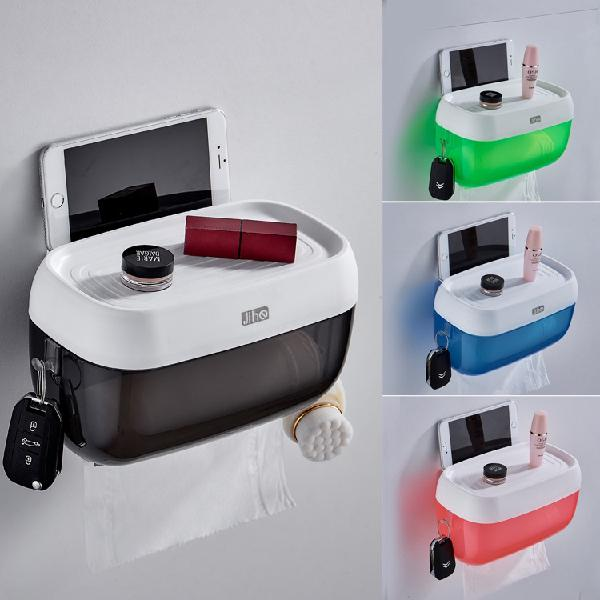 Wall-mounted toilet paper holders tissue box roll paper