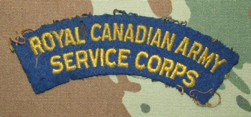 Cananda world war 2 army services corps shoulder title