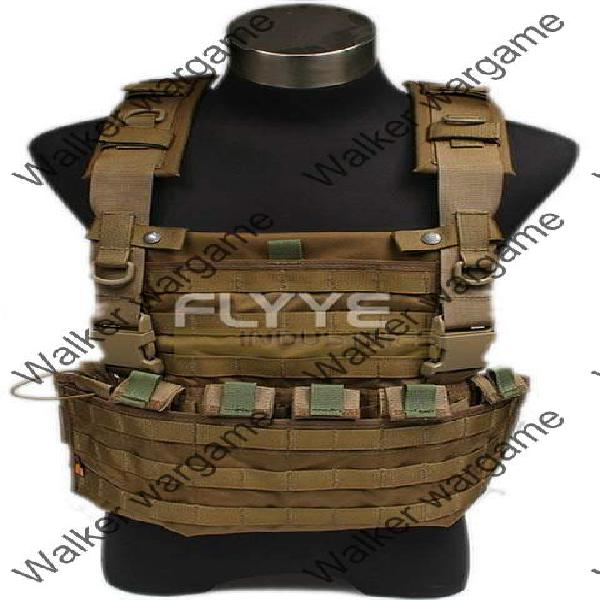 FLYYE Lightweight WSH Chest Rig Molle Vest - Desert Tan (Top