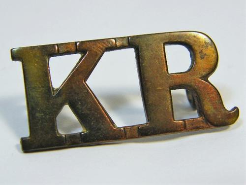 Kimberley regiment shoulder title - as per photo