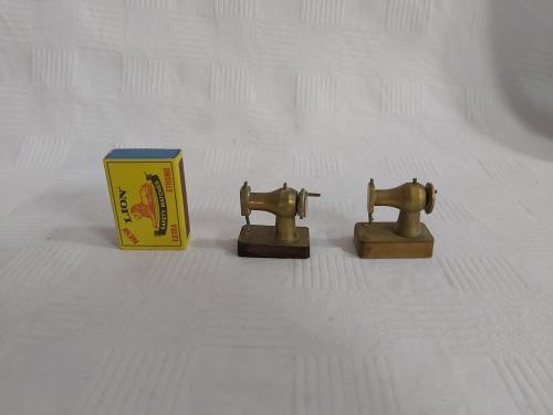 Printers tray miniature brass sewing machine (x2 items)