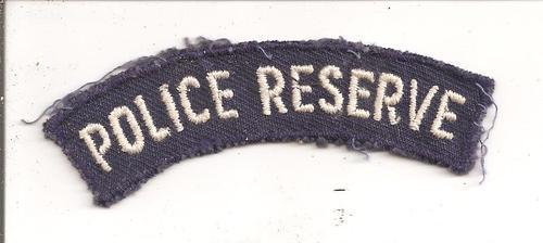Rhodesian Police Reserve shoulder title, as per scan