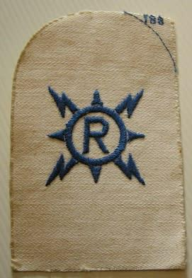 SA Navy Radio Fitter Trade Badge Embroidered on Material