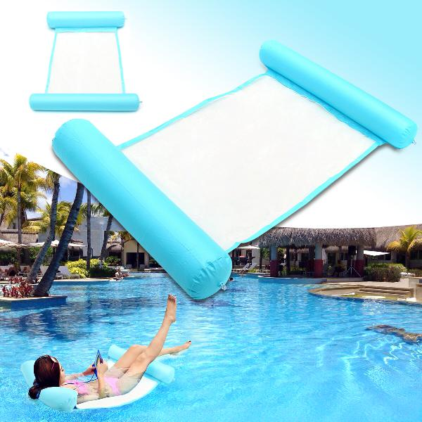 120x73cm inflatable water hammock floating air mattress bed