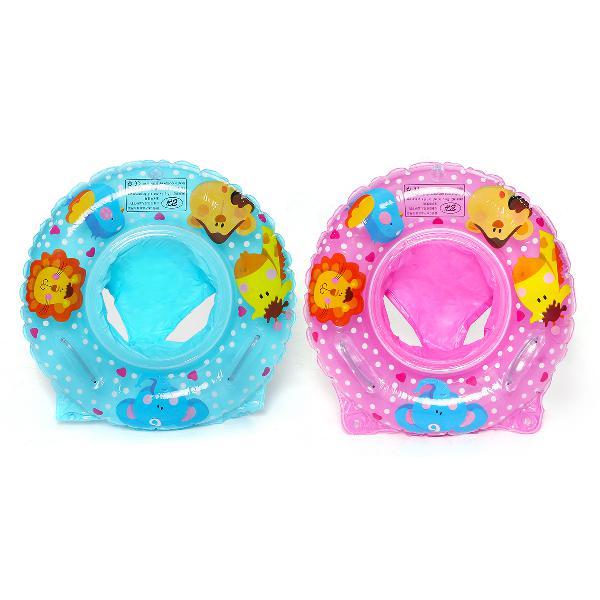 Blue/pink baby kids swim ring inflatable infant float safe