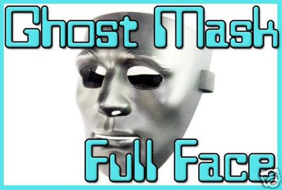 Japan Koei Pro Full Face Hard Plastic Black Ghost Mask -
